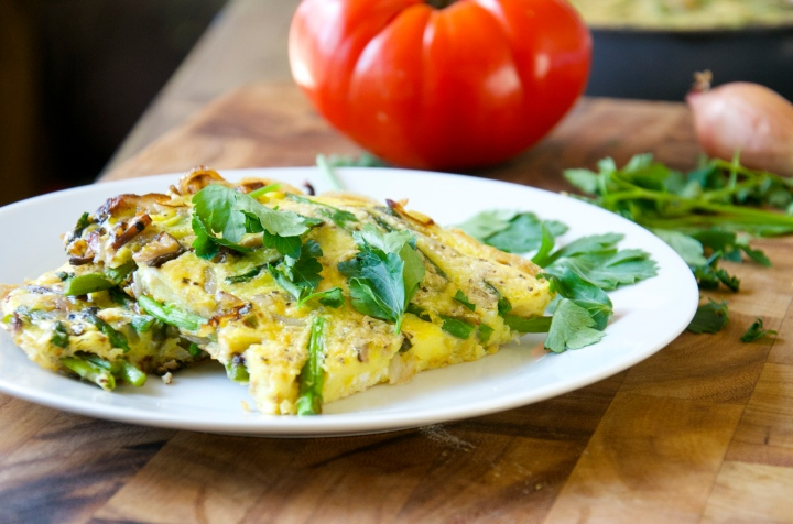 Asparagus and Shallot Frittata