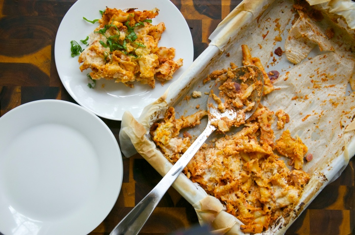 Tofu Ricotta and Marinara Pasta Bake