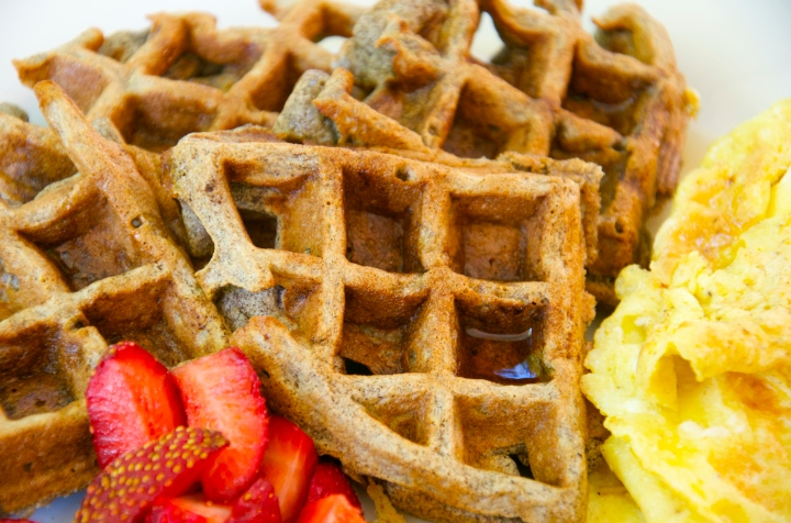 Apple Pie Buckwheat Waffles