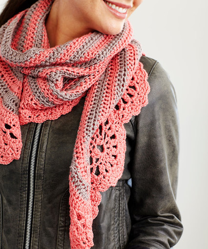 Chic and Strong Crescent Shawl Crochet Pattern – The Marly BirdOne