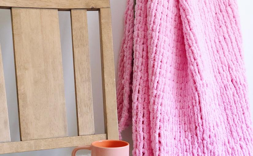 The Gift of Love Throw | A Crocheted Loop Yarn ThrowBlanket