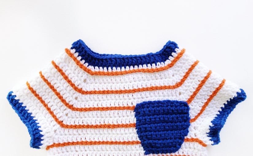 Ringer Tee   Free Crochet Baby TeePattern