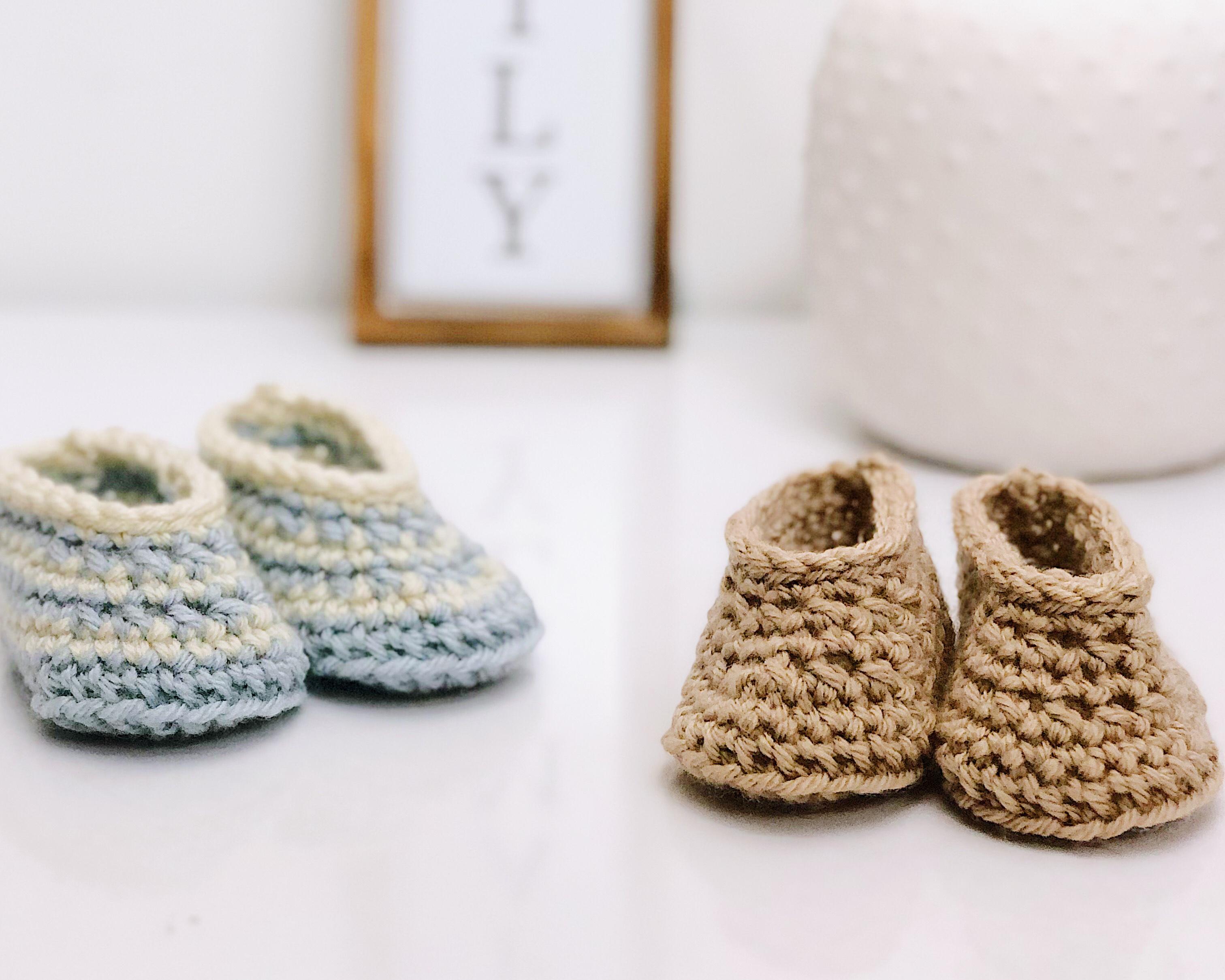 Draper Baby Booties   Free Crochet