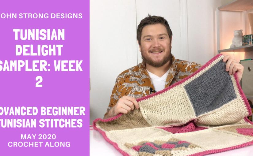 Tunisian Delight Sampler Afghan Crochet Along | Block 4, 5, and6